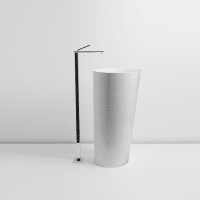 Valdama IL Freestanding Basin Pillar Wall Gloss White
