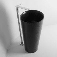 Valdama IL Freestanding Basin Pillar Floor Matt Black