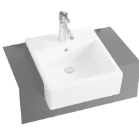VitrA Nuovella Semi-Recessed Rectangle Washbasin 400 x 450 x 180H 1TH
