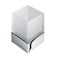 Geesa Modern Art Tumbler Holder White Glass