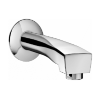 Hansa Twist Bath Spout 250mm x 20 CP