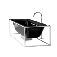 Bette Lux Shape Freestanding Bath Black with Frame