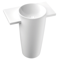 Marmorin Febe White Freestanding Basin Pillar without Tap Hole