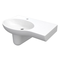 Palermo wall basin left hand