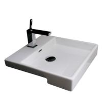 Valdama Plain Semi-Recessed Washbasin