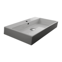 Valdama Unlimited Wall Washbasin 700 x 450 x 110H with Tap Hole