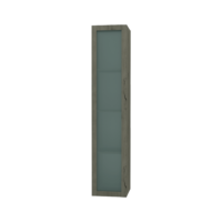 Franklin Furniture Forme Storage Tower with Frosted Glass Door 1700 x 350mm