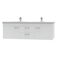 Franklin Furniture Bella Wall Vanity Double Bowl 2 Door / 2 Drawer 1500mm