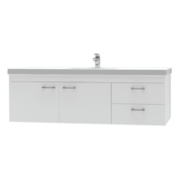 Franklin Furniture Bella Wall Vanity 2 Door / 2 Drawer 1500mm