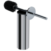 Chrome Toilet Brush and Stand with Black Brush