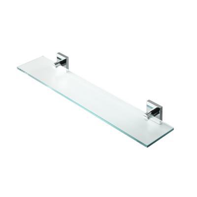 Geesa Nelio Bathroom Accessories Glass Shelf in Chrome