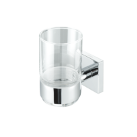 Geesa Nelio athroom Tumbler Holder Chrome and Glass