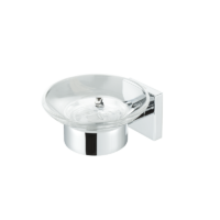 Geesa Nelio Soap holder chrome and glass