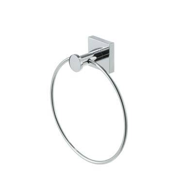 Geesa Nelio Towel Ring in Chrome