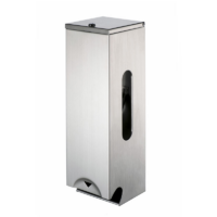 Geesa Public Area Commercial Triple Toilet Roll Dispenser in Brushed Stainless Steel
