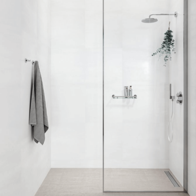 Geesa Nemox Bathroom Accessory Collection Chrome - Robe Hook and Shelf