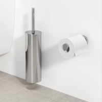 Geesa Nemox Bathroom Accessory Collection Chrome - Toilet Brush and Toilet Roll Holder
