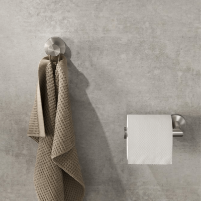 Geesa Nemox Bathroom Accessory Collection Stainless Steel - Robe Hook and Toilet Roll Holder