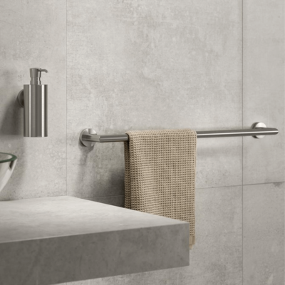 Geesa Nemox Bathroom Accessory Collection Stainless Steel - Soap Dispenser and Towel Rail