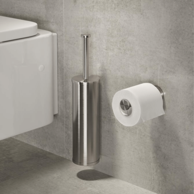 Geesa Nemox Bathroom Accessory Collection Stainless Steel - Toilet Brush and Toilet Roll Holder