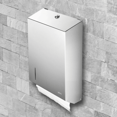 Geesa Public Area Commercial paper towel dispenser in Stainless Steel