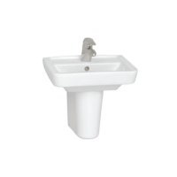 VitrA S20 Concept Wall Hung Accessible Washbasin 500mm with Tap Hole